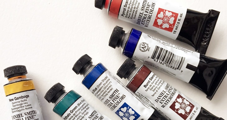 how to use watercolor tubes
