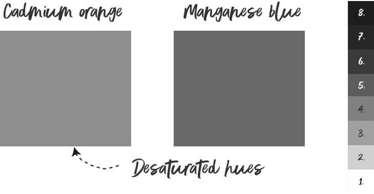 value and hue monochrome