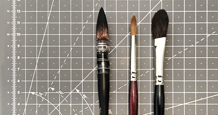 watercolor brush size chart