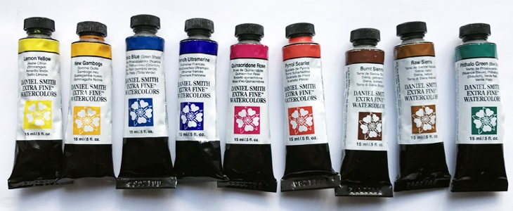 limited watercolor palette