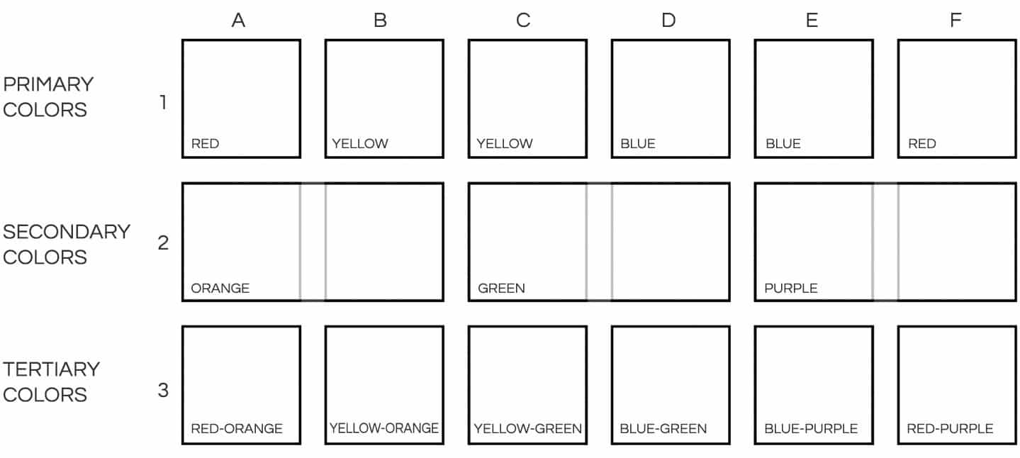 primary watercolor chart template