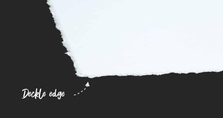 watercolor paper deckle edge