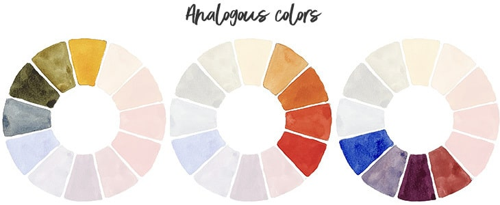 watercolor wheel analogous colors