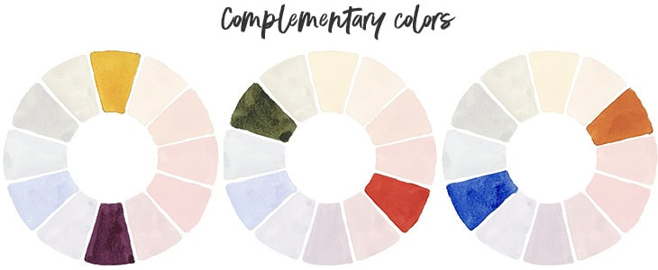 watercolor wheel complementary colors