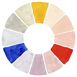 watercolor wheel primary colors