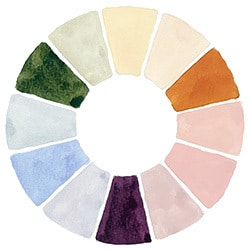 watercolor wheel secondary colors