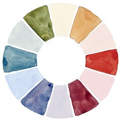 watercolor wheel tertiary colors