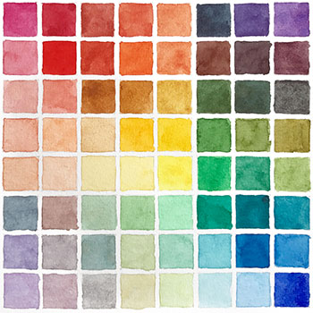 example 64 color chart small
