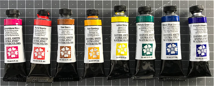 put your paints in order