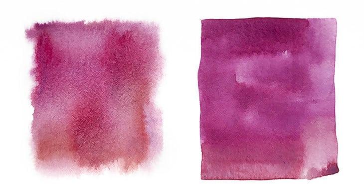 watercolor wet on wet vs wet on dry