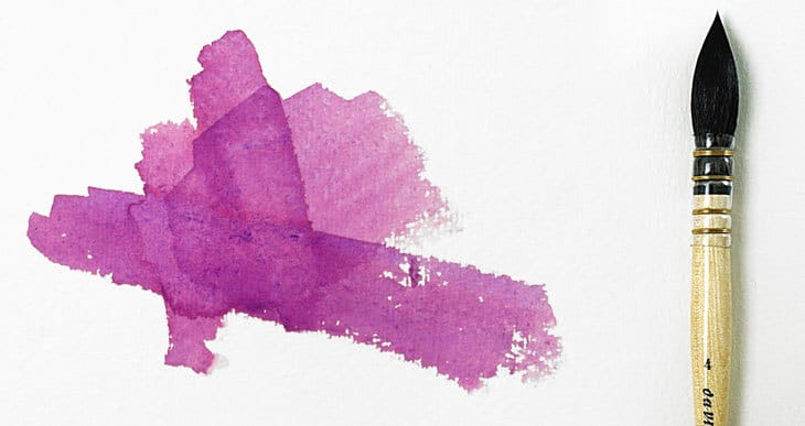 mixing a perfect purple watercolor