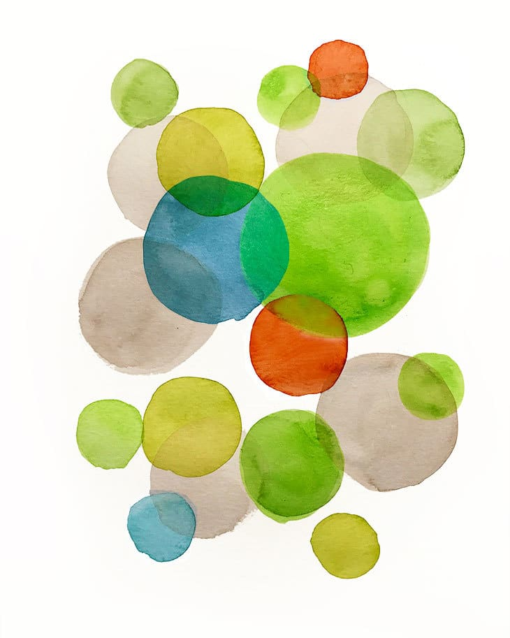 abstract watercolor forms