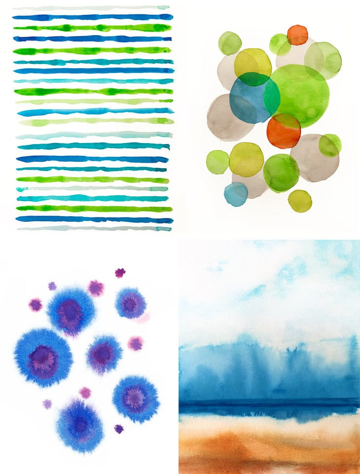 abstract watercolors tutorial