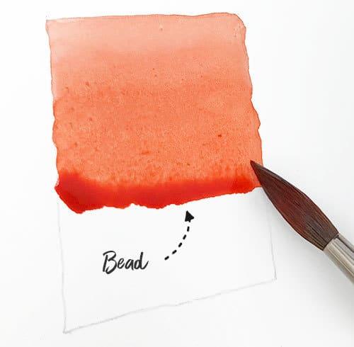 watercolor bead