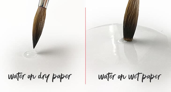 water on paper