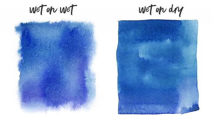 wet on wet vs wet on dry