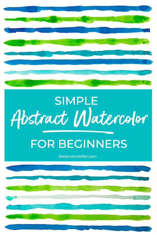 Like to learn how to paint abstract watercolors? Here are 4 different examples for beginners.