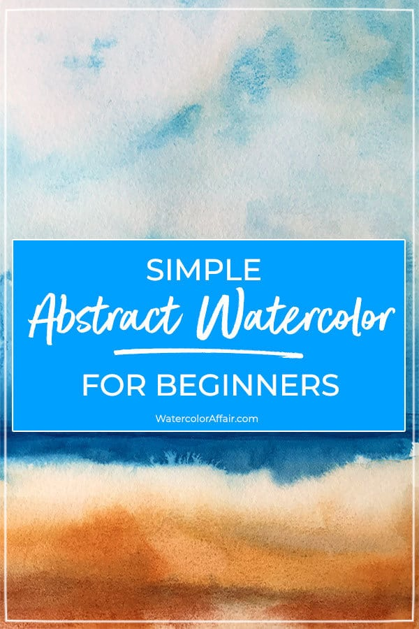A beginners tutorial about painting easy abstract watercolors.