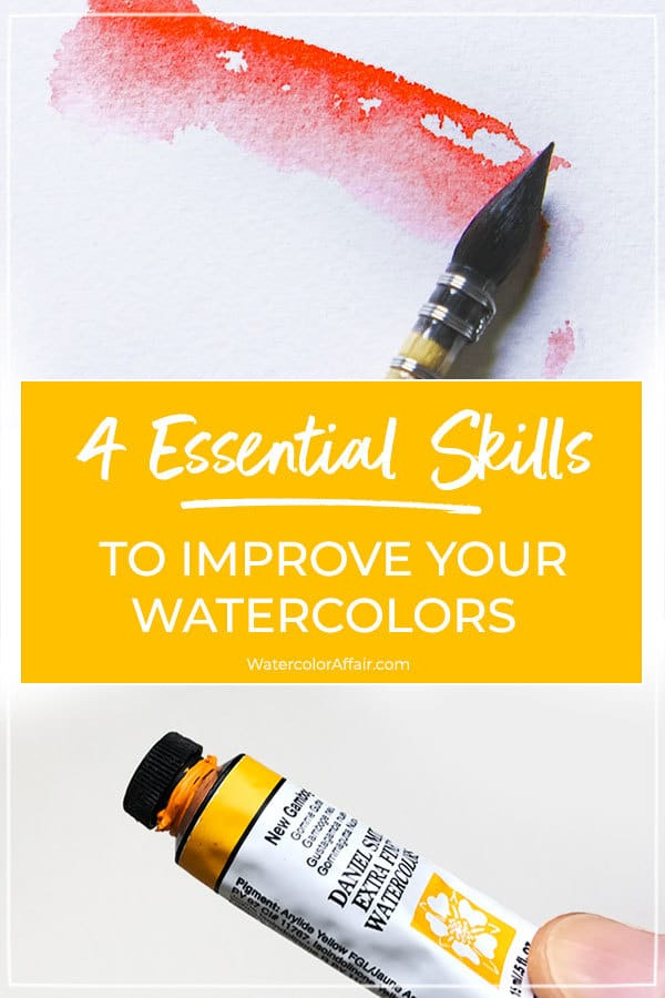 If you're looking to boost your watercolor skills take a look at these 4 important tips