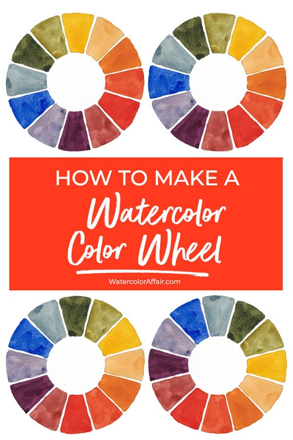 Make your own color wheel with this easy to follow watercolor tutorial