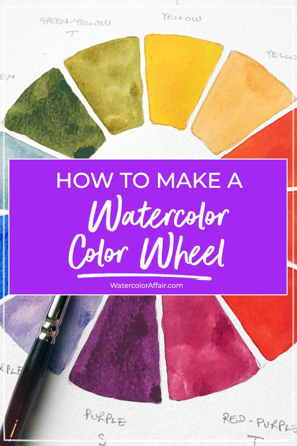 A Step by step guide to making a watercolor wheel.