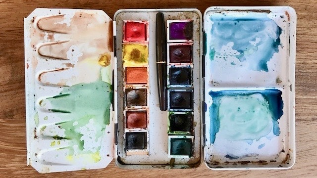 how to make watercolor pans