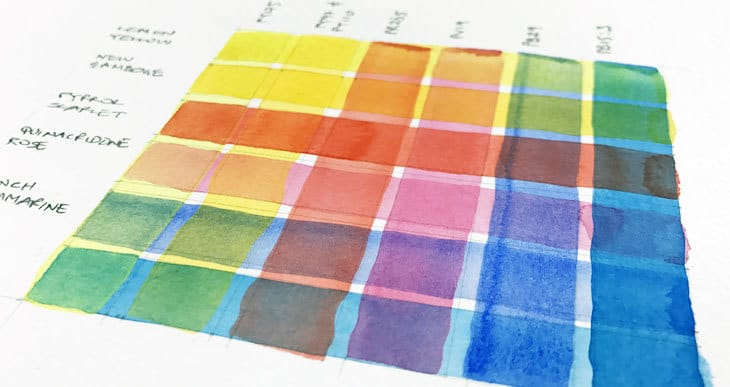 how to paint a watercolor glazing chart