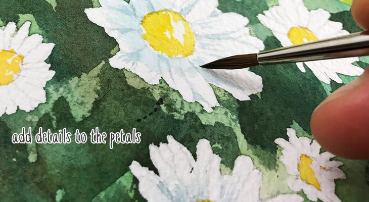 add some details to the petals