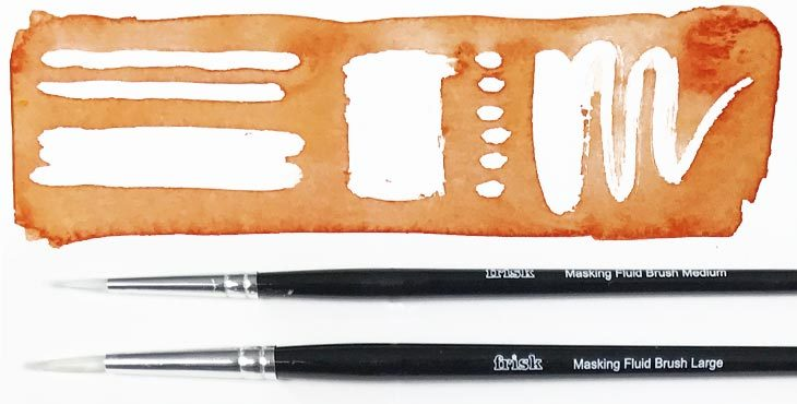 masking fluid with a brush