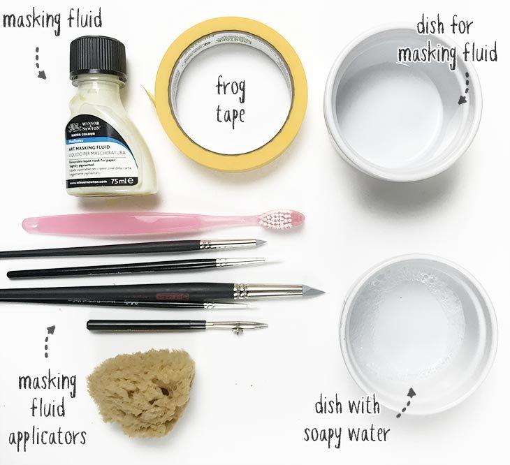 equipment for using masking fluid