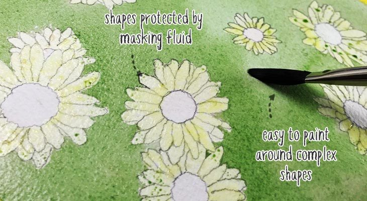 example of masking fluid in use