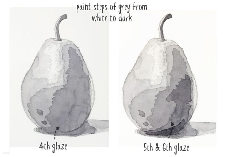value study of a pear step 3