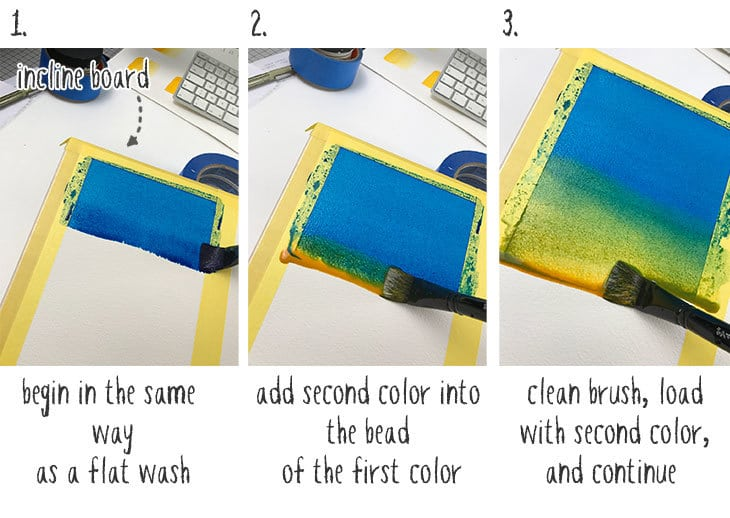 variegated wash painting technique