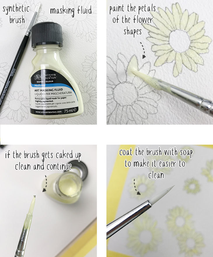 watercolor masking fluid