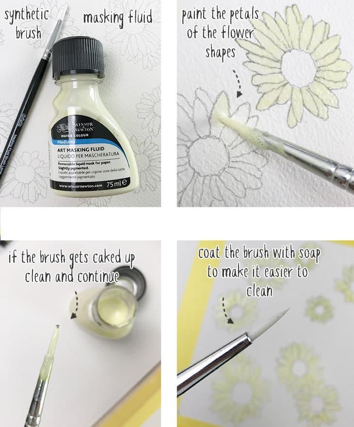 watercolor masking fluid