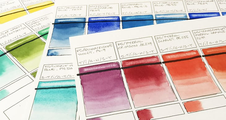 How to Make Watercolor Swatches