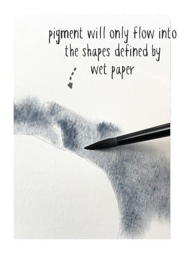 Wet on Wet Negative Painting Technique