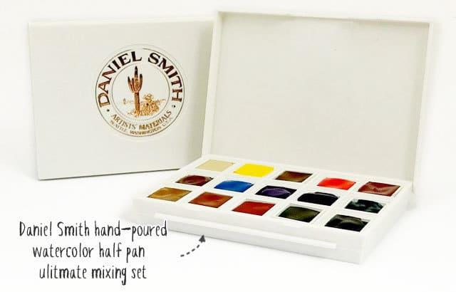 daniel smith watercolor pan set