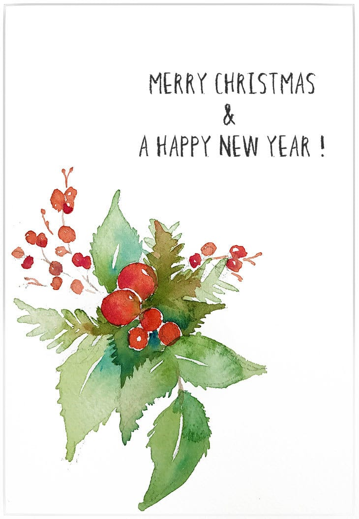Watercolor Christmas Cards.Easy Watercolor Christmas Cards Step By Step Tutorial