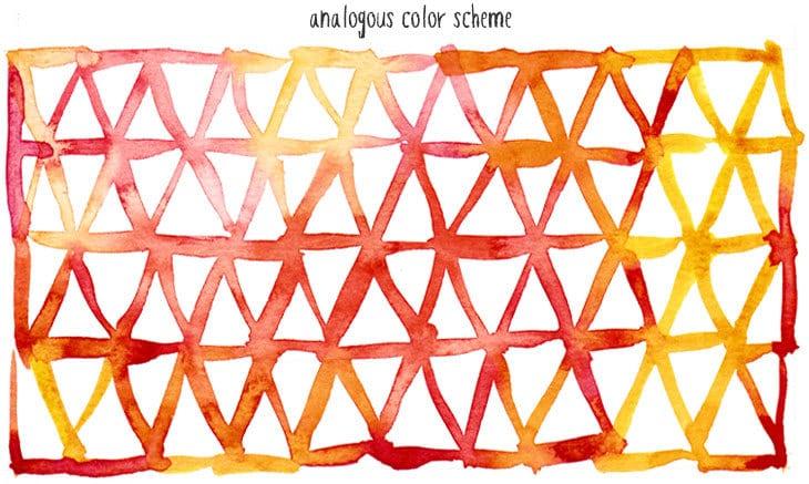 analogous watercolor scheme