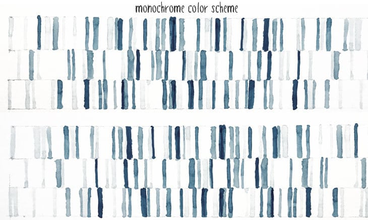 monochrome watercolor scheme