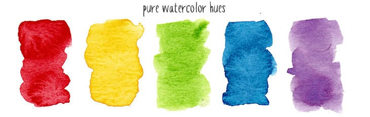 pure hues in watercolor