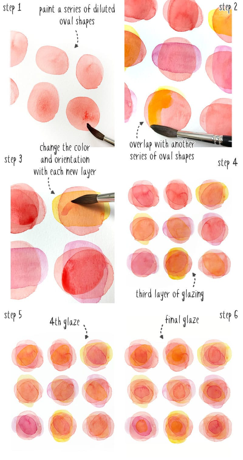 how to start watercolor painting with simple layered flowers