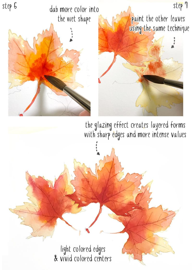 Watercolor Fall Leaves How To Paint Autumn Leaves The Easy Way