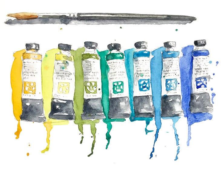 quick watercolor sketch