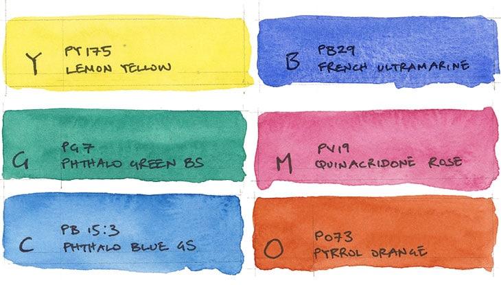 6 color secondary palette