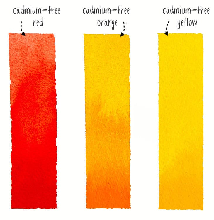 cadmium-free watercolor paint examples