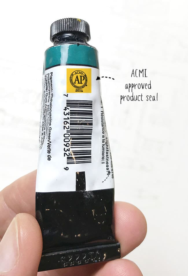 acmi seal of approval on paint tubes