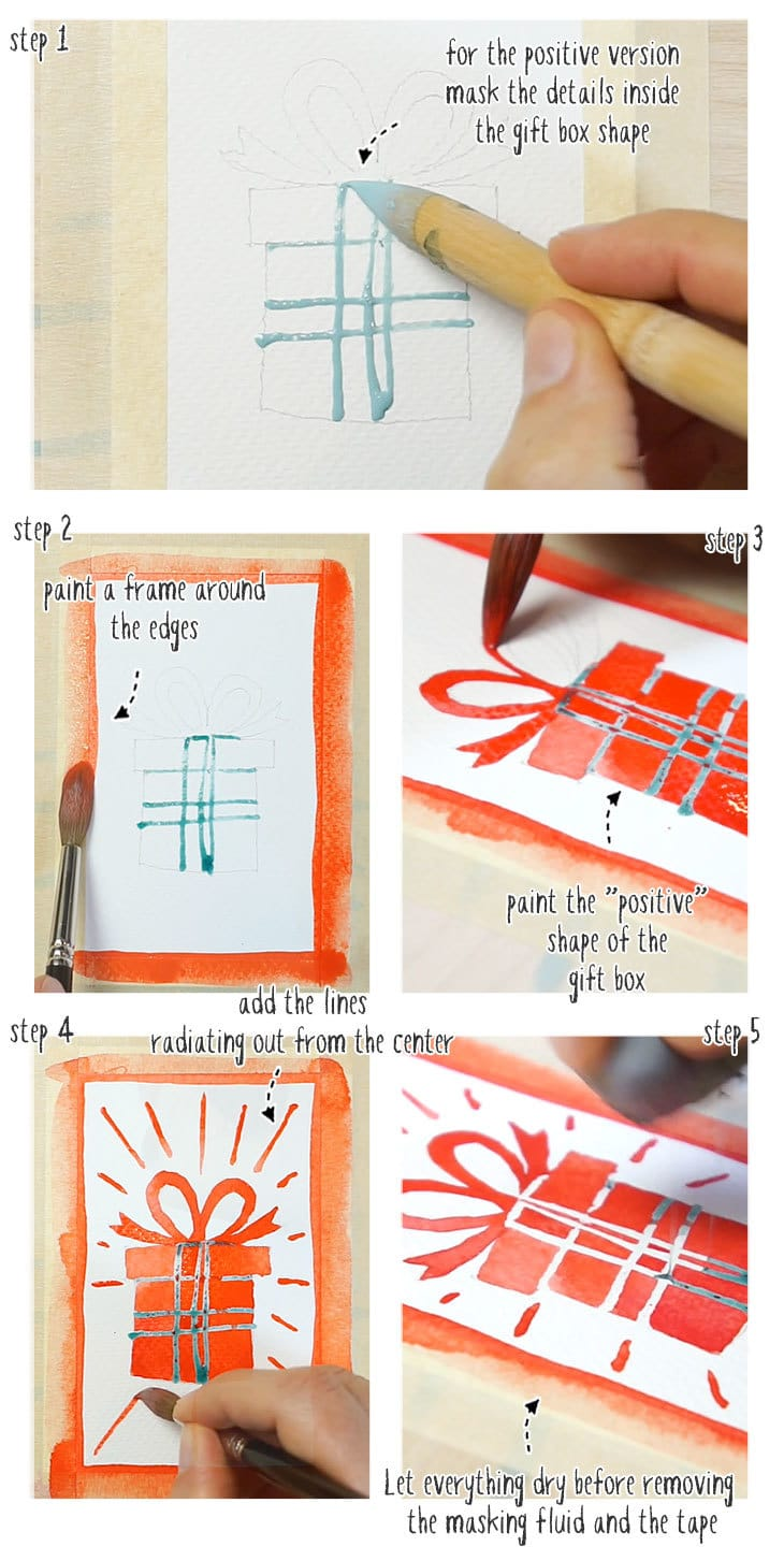 watercolor christmas cards step by step version 04