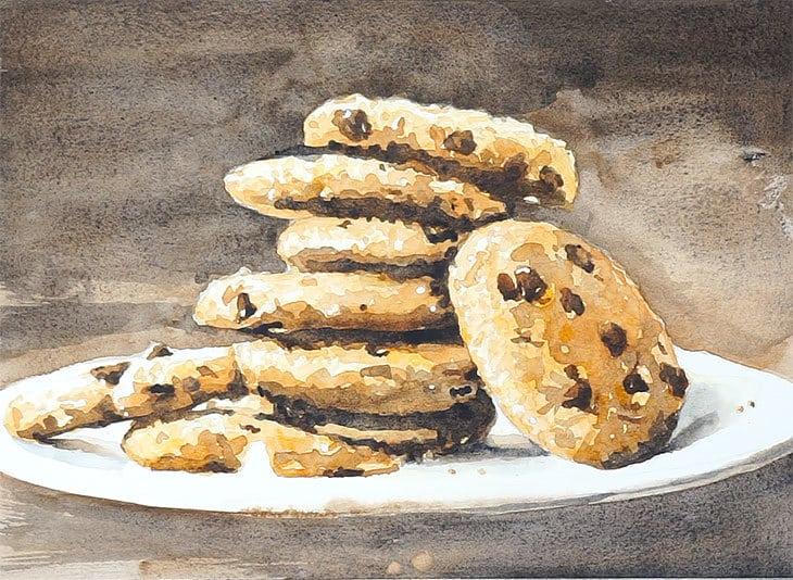 watercolor cookies painting